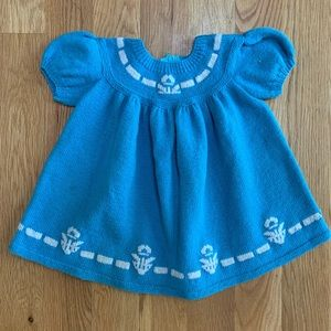 Other - Handmade Vintage Blue Sweater Dress